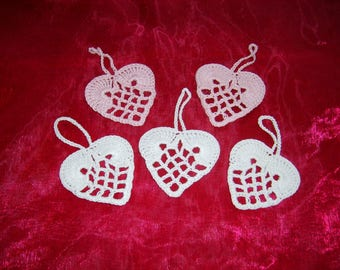 Hearts for decoration set of 5