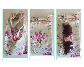 Fabric sunglasses case