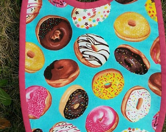 6/12 months collection Donuts Terry bib