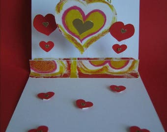"""Happy mother's day"" card hearts"
