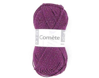 Wool white horse Comet, 50g skein, in violet plum 252