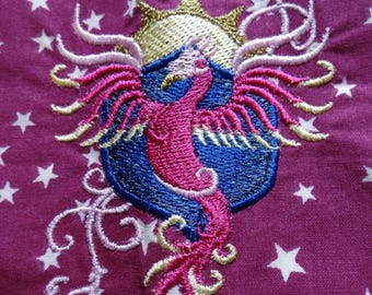 """Pillow and pillowcase embroidered """"Phoenix"""""""