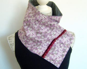 Liberty and grey jersey fleece scarf.