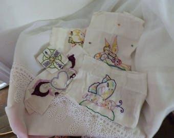 set of four doilies hands
