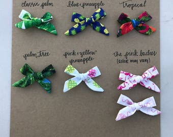 Little Lady Hand Tied Bow Summer Collection