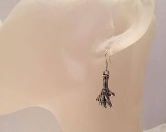 Chicken foot earrings