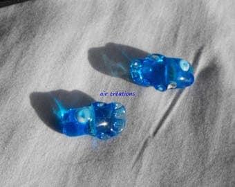 Mini glass PERL.0118 fish duo