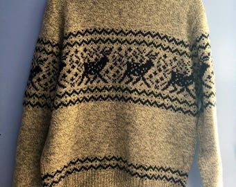 Vintage Nordic Wool Sweater