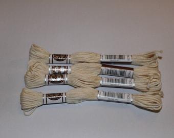 Plied yarn ecru matte DMC embroidery FLOSS for canvas or bracelets