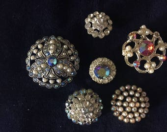 Assorted Vintage Rhinestone buttons