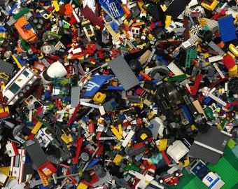 Lego 10 Pounds Free Shipping USA Pieces LOT Bulk *washed and sanitized* W/ No minifigures