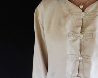 taupe button up