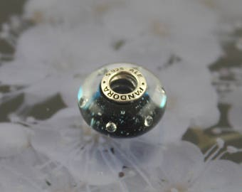 Authentic Pandora  Midnight Blue Murano Charm 791627CZ