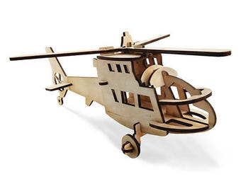 3d wood puzzle Helicopter, Educational development Eco friendly toys, Wooden construction models, Wooden toys for kids, Gift for baby