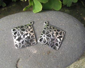 filigree flower pendants