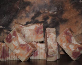 Coffee Cake & Snickerdoodle rustic bar soap
