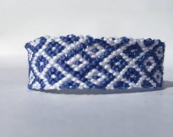 Opposite Rhombus Embroidery Floss Woven Braided Friendship Bracelet
