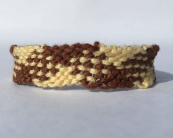 Checkered Plaid Embroidery Floss Woven Braided Friendship Bracelet