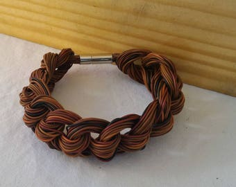 Recycled electric wire bracelet