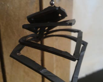 Earrings in inner tube recycled - Made in Morocco