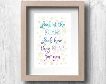 The Stars Shine for You - Printable Wall Art