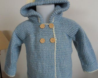 Coat boy blue China Hoodie for boy 12 month