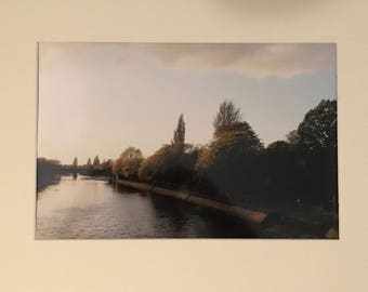 River Ouse 12X8 photo in a white mounted frame