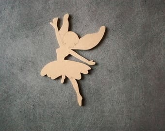 Fairy No. 3 MDF holder to decorate, personalize: 16,5 x w 10 cm