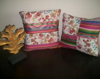 SET OF 2 COVERS COLLECTION SHADES OF PINK