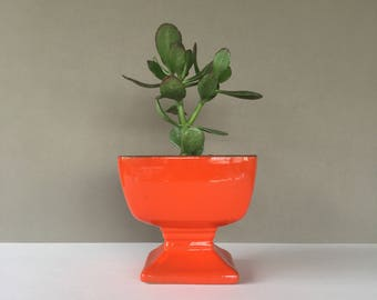 Vintage Frankoma Red Ceramic Planter, Art Pottery, Succulent Planter, Cactus Planter