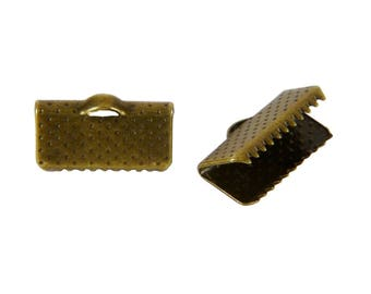 40 caps Ribbon clips has CLAWS BRONZE 13x6mm