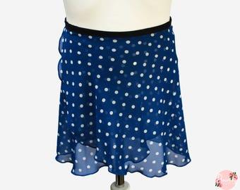 Dottie - Ballet Wrap Skirt - Ballet Skirt - Dance Skirt - Polka Dot Ballet Skirt - Flourish Dancewear