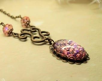 Romantic pendant Cabochon pendant necklace