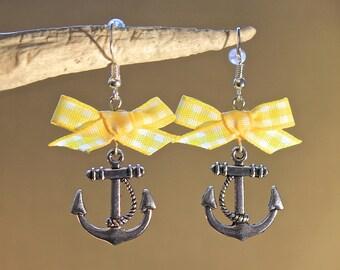 "Earrings ""anchor"" fantasy, retro, vintage"
