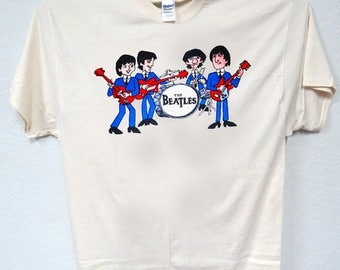 THE BEATLES, Retro Cartoon Band, T-Shirts,All Sizes ,568