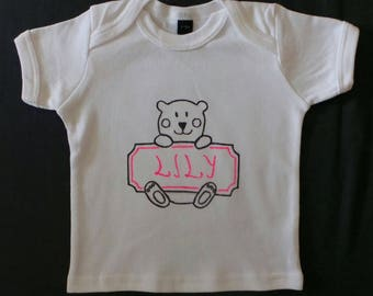 """Baby BEAR"" girl t-shirt"