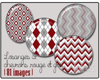 Stripes Printable Images Digital Collage Sheet for Jewelry Making - Digital collage sheets