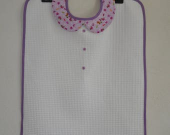 Adult bib for women purple butterflies