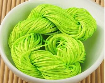 Neon Green macramé 30 meters craft wire