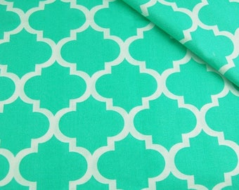 Cotton printed fabric 100% coupon 100 x 160 cm Green