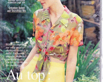 floral blouse size November 1996 PRIMA