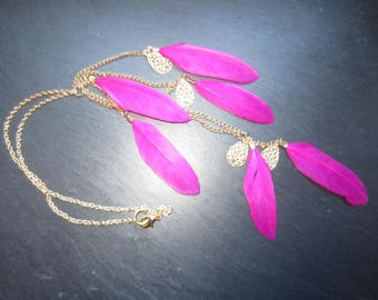 Necklace Fuchsia and gold