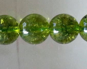 1 Pearl, quartz olivine 8 mm in diameter, hole 1 mm