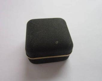 Vintage Designer Swank Tie Tack Jewelry Box Gold Trim