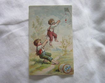 C 1880 Antique Victorian Trade Card Clark's Spool Cotton O N T