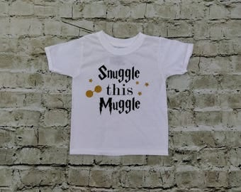 snuggle this muggle Harry Potter Onesie or Shirt Baby Humor Funny Toddler Shirt