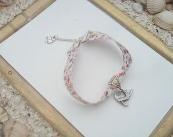 liberty floral bracelet with these charms