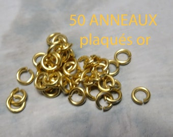 50 gold plated ring 4.5 mm open quality