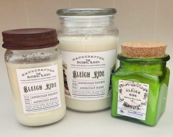 SLEIGH RIDE - 100% soy candles, 3 sizes available
