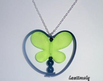 fancy flight of the Green Butterfly Necklace